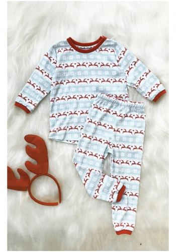 Detský pyžamový komplet s Vianočnou potlačou