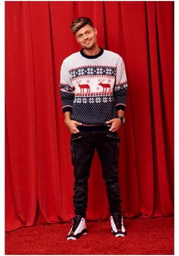 Pánsky sveter s Vianočným motívom