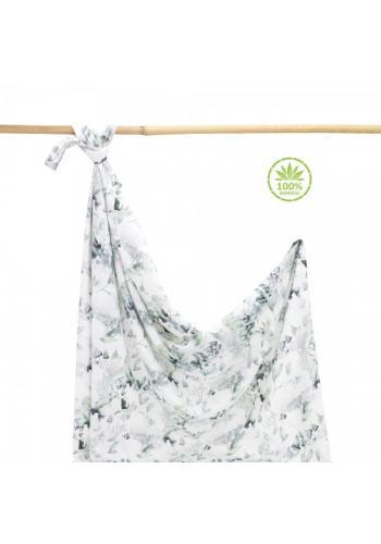 Bambusová deka na leto - šalvia zelená