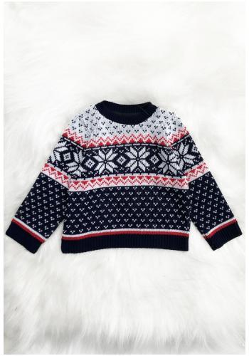 Detský sveter s motívom zimy