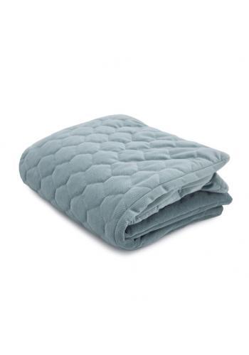 Teplá zamatová deka pre deti - šalvia zelená