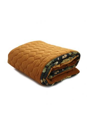 Zamatová teplá deka pre deti - príroda/horčicová