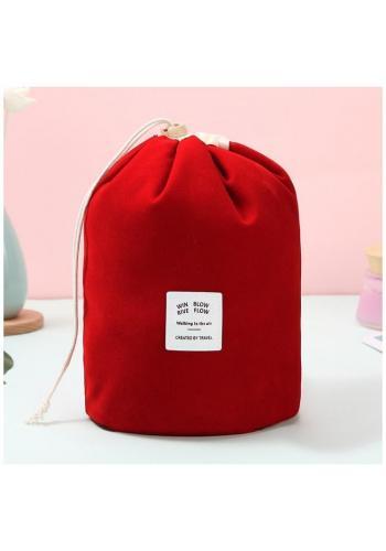 Kozmetické vrecko červenej farby