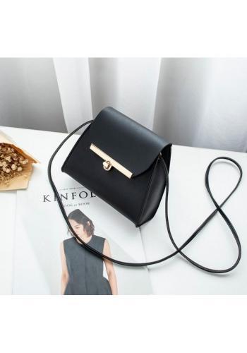 Čierna mini kabelka z ekokože pre dámy