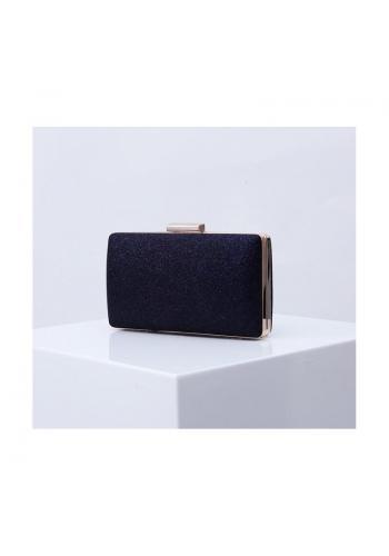 Trblietavá dámska kabelka tmavomodrej farby