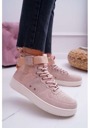 Dámske štýlové Sneakersy Big Star v ružovej farbe