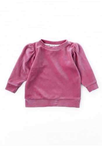 Velúrová mikina pre dievčatá v ružovej farbe