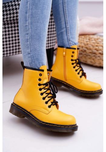 Žlté módne Workery pre dámy
