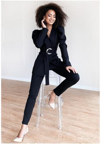 Elegantné čierne nohavice pre dámy