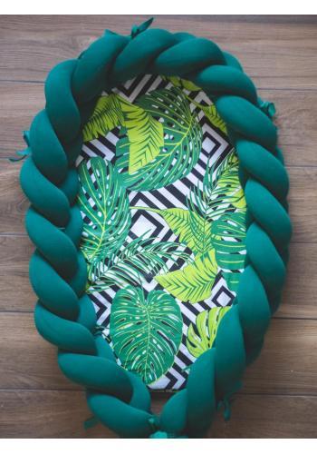 Vymeniteľný matrac pre kokón - zelené lístie