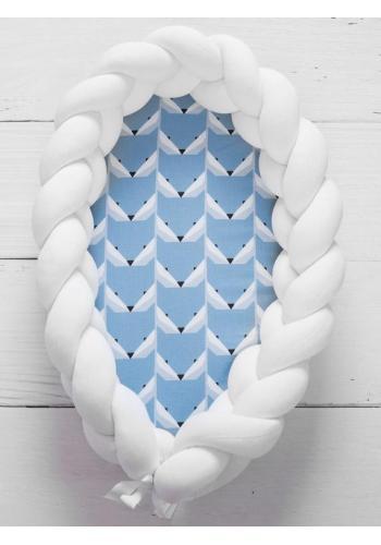Vymeniteľný matrac pre kokón - modré líšky