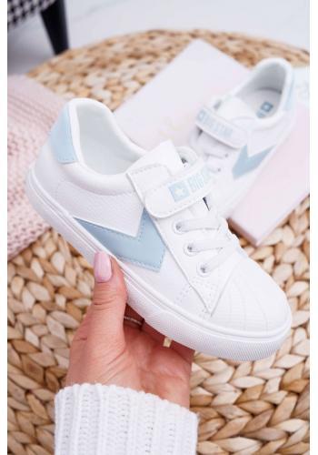 Detské módne tenisky Big Star so suchým zipsom v bielej farbe