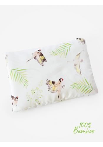 Malý detský vankúš - vtáčiky 100% bambus