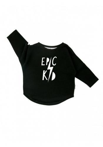 """Čierna bavlnená mikina  """"epic kid"""""""