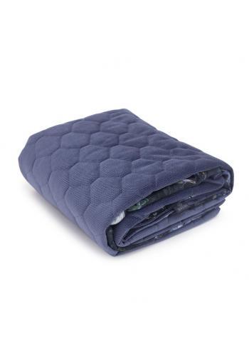 Modrá zamatová tenká deka pre deti s motívom magického lesa