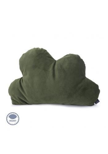 Zamatový vankúš - oblak v zelenej farbe