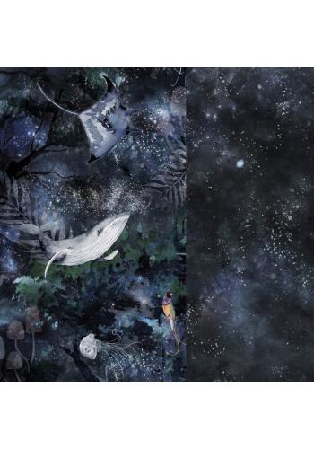 Obojstranný chránič na postieľku s motívom magického lesa