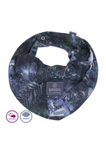 Obojstranný zamatový šál s motívom magického lesa
