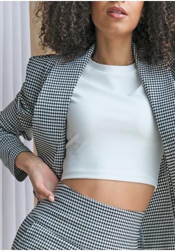 Dámsky krátky  bavlnený top v bielej farbe