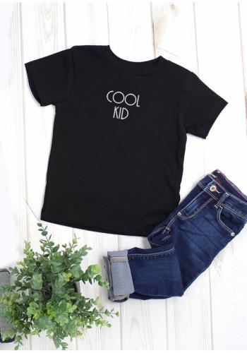"""Detské tričko s nápisom """"cool kid"""" v čiernej farbe"""