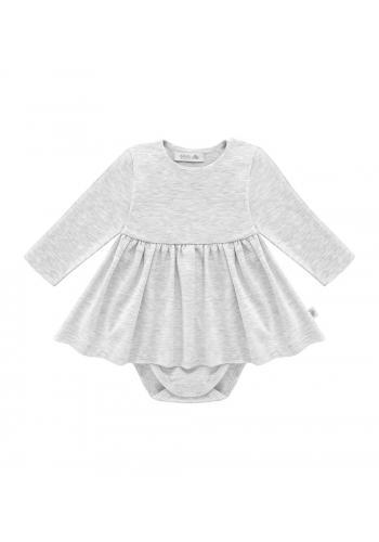 Bavlnené body so sukničkou v sivej farbe