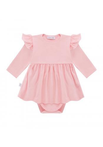 Bavlnené body so sukničkou v ružovej farbe