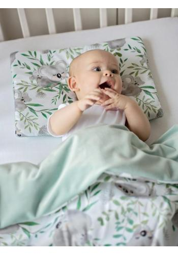 Saténovo - zamatová detská posteľná sada s motívom - koala