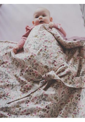 Luxusná zavinovačka pre bábätka - retro kvety