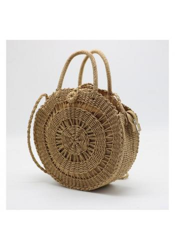 Okrúhla prútená kabelka pre dámy
