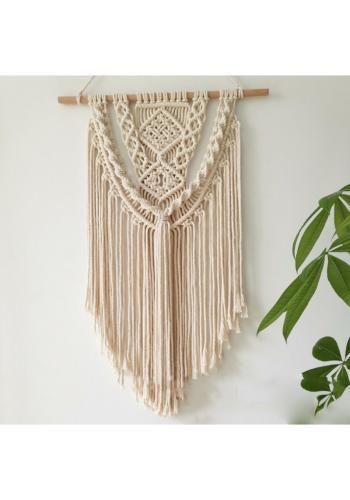 Pletená ozdoba na stenu makramé
