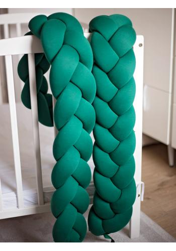 Uzlíkový chránič na postieľku v zelenej farbe