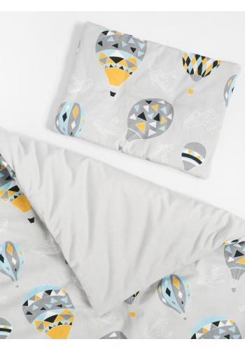 Detská posteľná sada - Velvet Blue Baloons