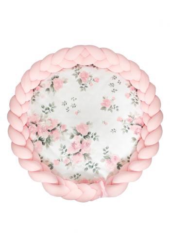Podložka na hranie 2v1 s motívom kvetov a ružovým chráničom