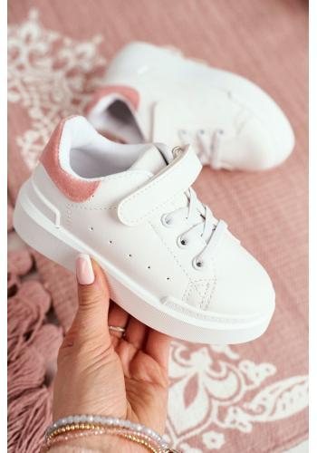 Detské športové tenisky v bielo-ružovej farbe