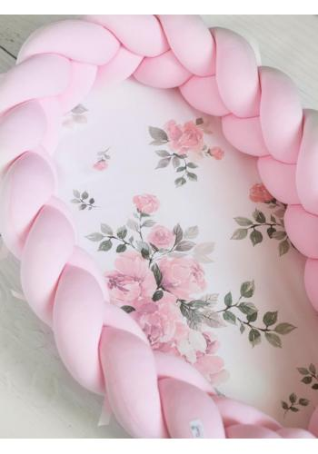 Výbava pre novorodenca 4v1 - magické kvety/ pastelovo ružová