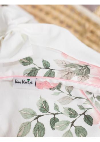 Výbava pre novorodenca 4v1 - magické kvety/ tmavo ružová