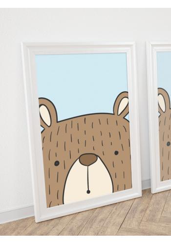 Detský plagát na stenu s motívom medveďa