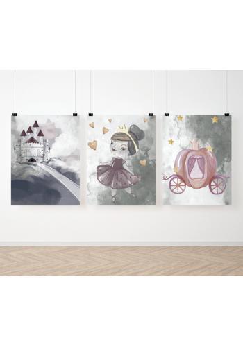 Detská sada rozprávkových maľovaných plagátov