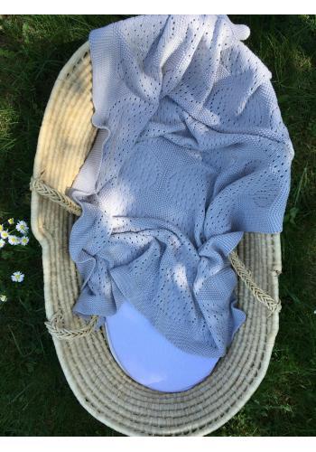 Sivá detská pletená bambusová deka