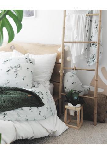 Bambusova letná deka - zelené listy