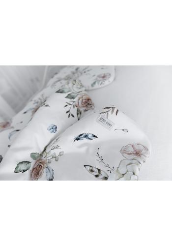 Detská bambusová posteľná sada s motívom Vintage kvety