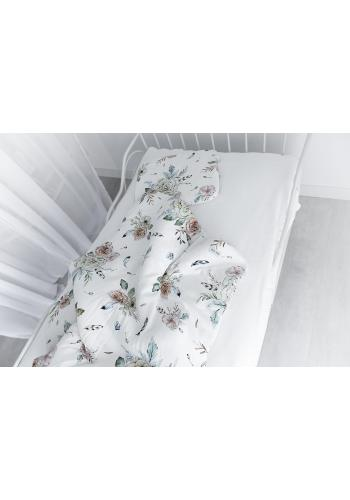Bavlnená detská posteľná sada s výplňou -  Vintage kvety