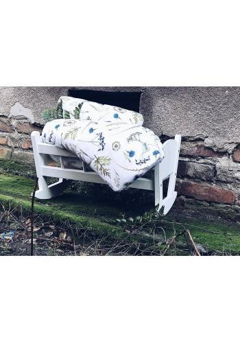 Bavlnená detská posteľná sada s výplňou - Lúčne kvety