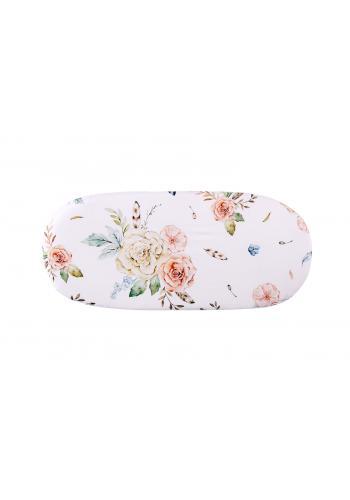 Bambusové prestieradlo na oválny matrac do kočíka s motívom vintage kvetov