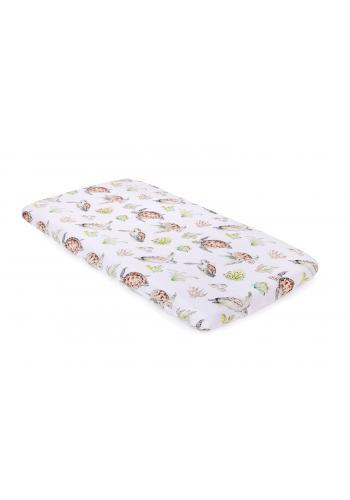 Bambusové detské prestieradlo na posteľ s motívom korytnačiek