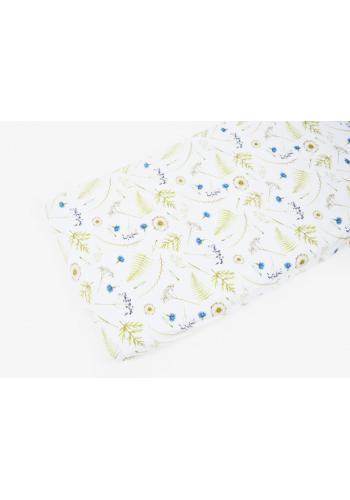 Bambusové detské prestieradlo na posteľ s motívom lúčnych kvetov