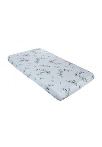 Bambusové detské prestieradlo na posteľ s motívom zelených lístkov