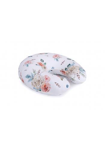 Dojčiaci vankúš v tvare C s motívom vintage kvetov