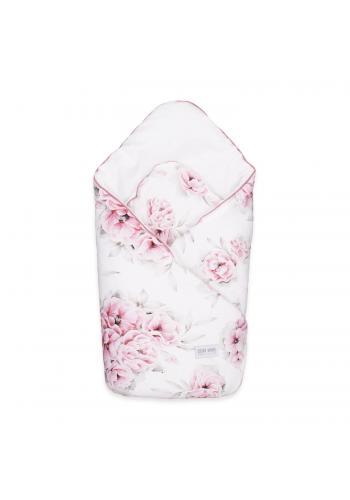 Bambusová zavinovačka pre bábätka - Ružové kvety