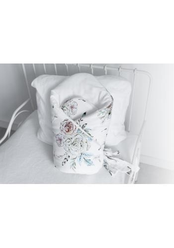 Bavlnená detská zavinovačka s motívom vintage kvetov